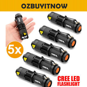 5x-CREE-Q5-LED-Zoomable-Focus-Bright-Flashlight-Torch-1200LM-Light-AA-14500