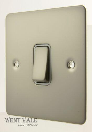 10ax 1g 2W Interruptor En Acabado Perla níquel Obtenga Placa Plana último-GU1212WPN