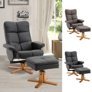 HOMCOM Fauteuil Relax Inclinable avec Repose-Pieds Similicuir