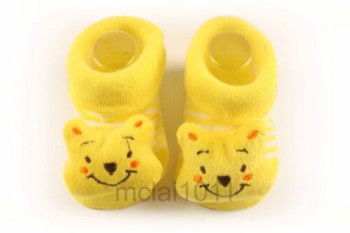 Anti Slip Babyshower Gifts Newborn 12M Baby Boy 3D Winnie The Pooh Socks