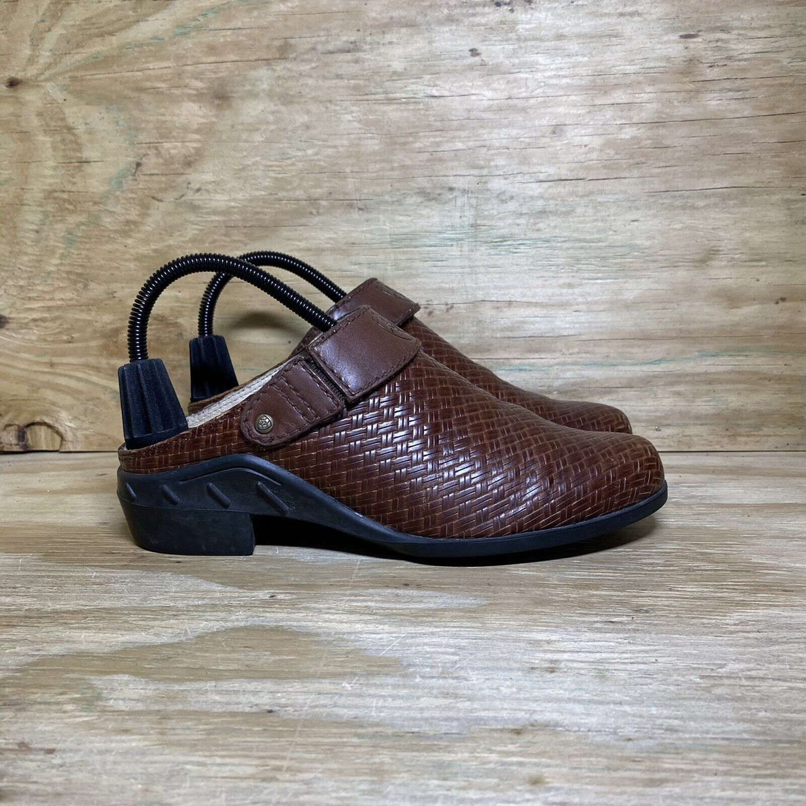 Ariat ATS Basket Weave Leather Strap Mule (94024) Shoes, Women's Size 8.5, Brown