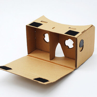 GOOGLE CARDBOARD HEADSET 3D VIRTUAL REALITY VR GOGGLES FOR ANDROID, iPHONE iOS   eBay