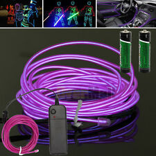 9FT Neon LED Light Glow EL Wire String Strip Rope Tube Car Dance Party+2 Battery