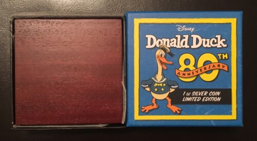 2014 Niue Silver Donald Duck 80th Anniversary Box and Certificate Only No Coin