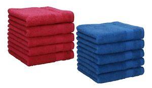 Betz 10 Seiftücher Seiflappen Seiftuch Waschlappen PREMIUM 30x30 blau orange