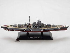 Miniature-Eaglemoss-Bateau-de-guerre-Cuirassier-BISMARCK-Marine-Allemande-1941