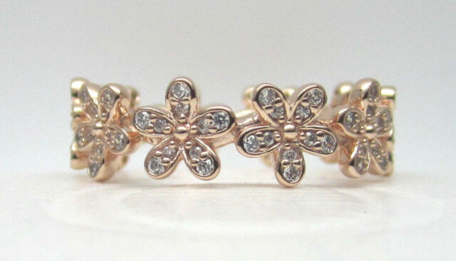 fbd320c81 ... discount authentic pandora 180934cz 58 dazzling daisy band ring rose  collection size 8.5 82c74 0ef92 ...