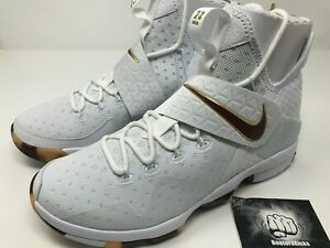 c8477897a383 NIKE LEBRON XIV WHITE TEAM RED-GUM LIGHT BROWN Size 11  852405 104 ...