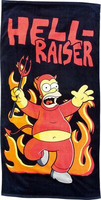 Simpsons Badetuch Handtuch Homer Simpson Schwarz 75x150 cm