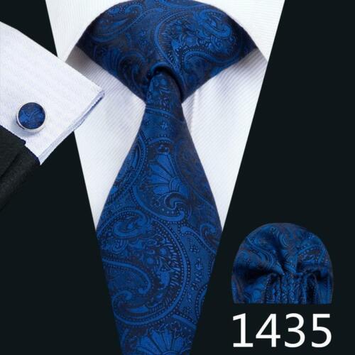 USA Mens Paisley Silk Tie Set 68 Colors Red Blue Black Gold Pink Necktie Wedding