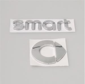 SMART-Emblem-Neu-Logo-Zeichen-Aufkleber-Heckklappe-Schriftzug-Silber