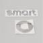 SMART-Emblem-Neu-Logo-Zeichen-Aufkleber-Heckklappe-Schriftzug-Silber Indexbild 1