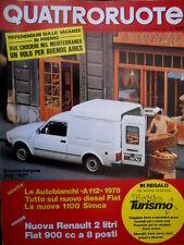 Quattroruote 263 1977 Nuovo Furgone Fiat 127. A112 '78, nuova 1100 Simca [Q94]