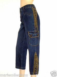 femme Together jeans 36 lacets Taille Pantacourt haute taille avec B656qEw 4a7bd8a1b76
