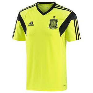 adidas Spain World Cup WC 2014 Training Soccer Jersey New Neon ... d13b81d90