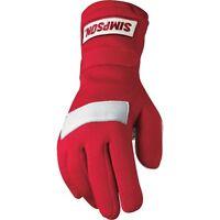 Simpson Red Xs Adult Posi Grip Driving Racing Gloves Sfi 3 5 Karting Uk