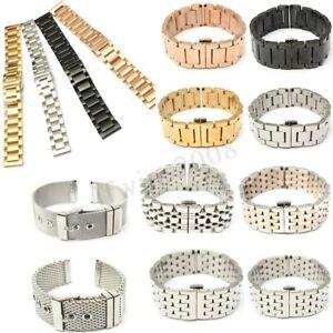 18-20-22-24mm-Bracelet-de-Montre-Boucle-Deployant-acier-inoxydable-Watch-Bande