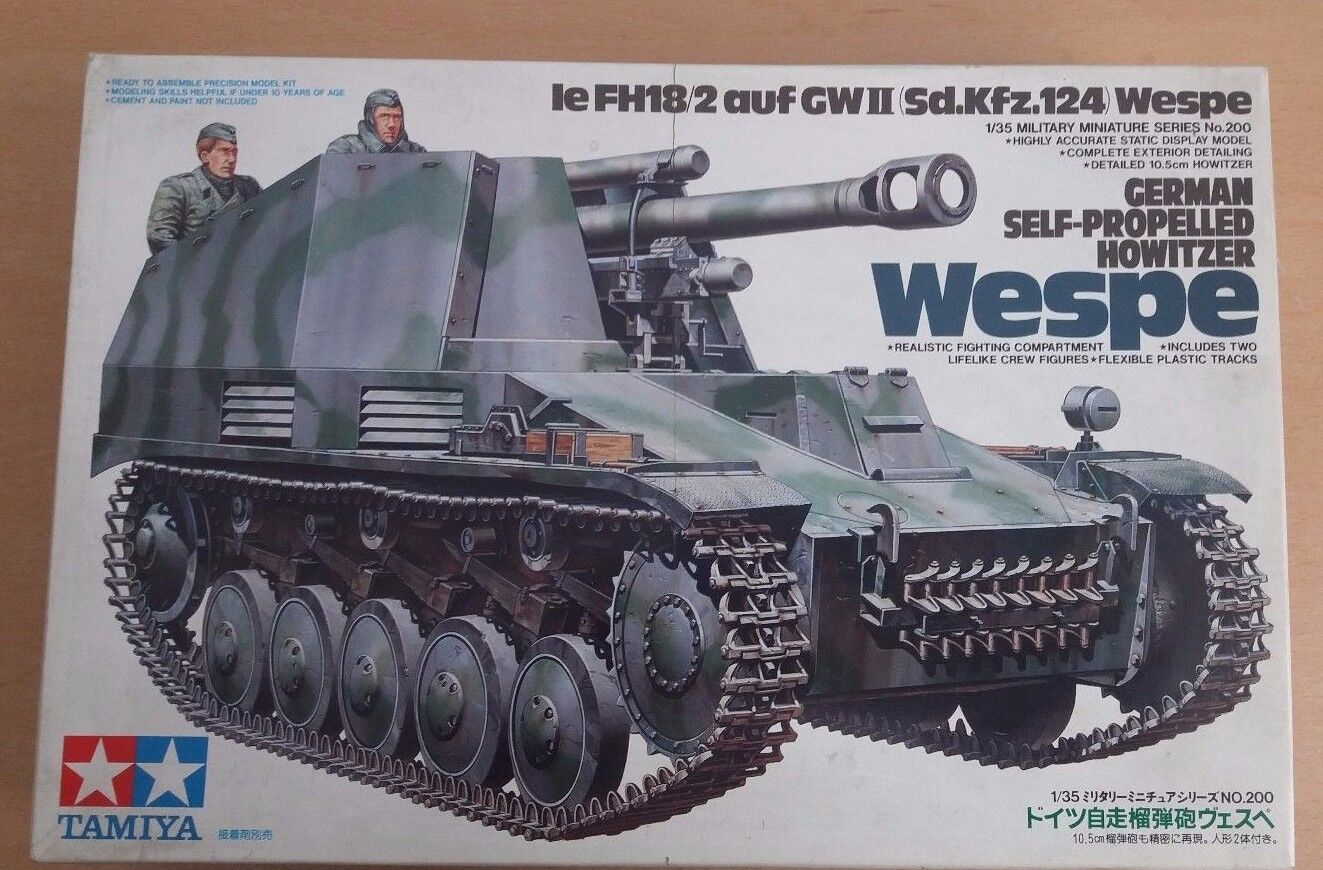 GERMAN SELF-PROPELLED HOWITZER WESPE, TAMIYA