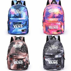 8959828259 Image is loading Unisex-Boys-Girls-School-Canvas-Galaxy-Backpack-Travel-
