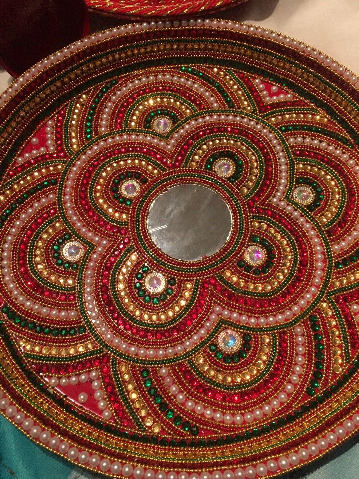 Indian Wedding plateaux - 4 Pooja Plateaux & 5 petits bols