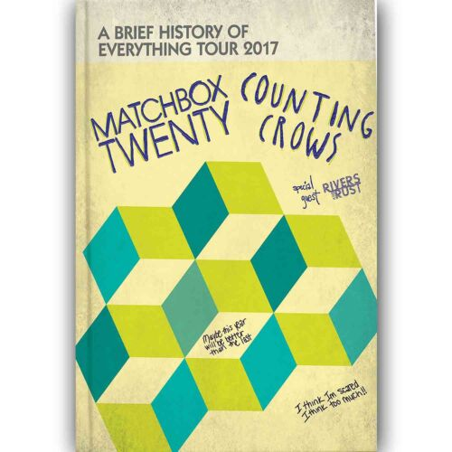 Custom Wall Decor New Matchbox 20 and Counting Crows Silk Poster