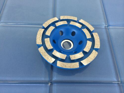 """TEMO 4/"""" Diamond Two Row Segment Grinding Wheel Disc Marble Tile Concrete Rock"""