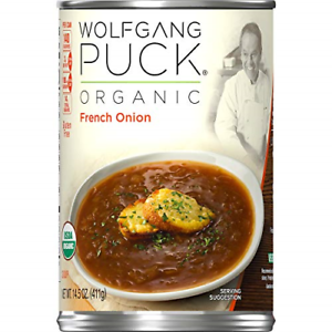 Wolfgang Puck Organic French Onion Soup, 14.5 oz. Can Pack ...