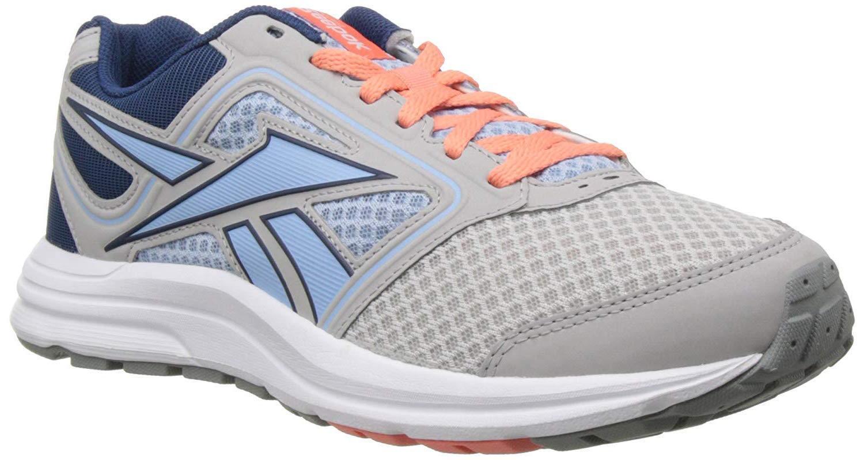 Womens Reebok Zone Cushrun MT Running shoes - Steel Denim Coral
