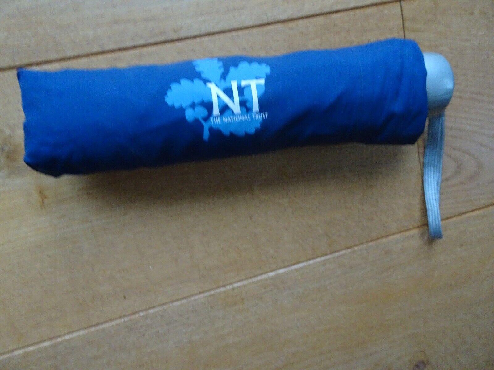 NATIONAL TRUST BLUE UMBRELLA WITH SLEEVE COVER UMBRELLA