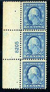 USAstamps-Unused-FVF-US-Washington-Plate-Strip-Scott-504-OG-MNH