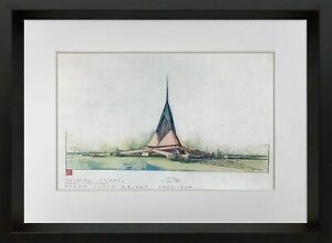 "Frank Lloyd WRIGHT SIGNED #'ed LIMITED Ed. ""Trinity Chapel"" w/Frame Included"