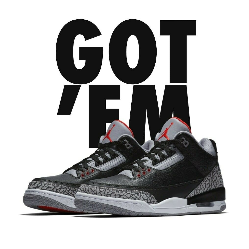 2018 Jordan III OG Black Cement. Brand new in the box. Shipped double boxed....