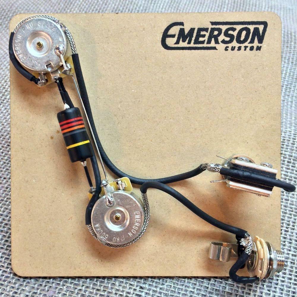 Emerson Eigener Vorverkabelt Set für 2-Knob Prs Gitarren