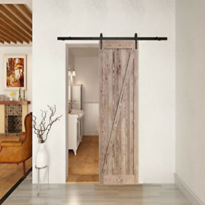 La Foto Se Está Cargando DIY Natural Carbonized Interior Sliding Barn Wood  Door