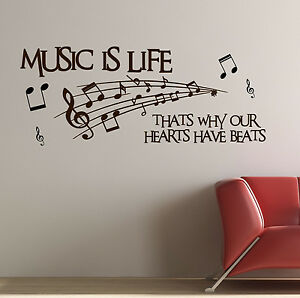Image Is Loading Music Life Amp Notes Quote Premium Kids