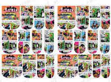 24 WATER SLIDE NAIL ART DECALS * VINTAGE MARVEL COMIC BATMAN * FULL NAIL COVER