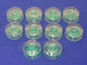 10 Plastique Vert Bobines Compatible Husqvarna Viking Machines à Coudre,nombreux