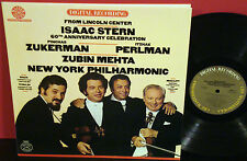 ISAAC STERN 60th ANNIVERSARY CELEBRATION CBS DIGITAL Audiophile Mehta Perlman