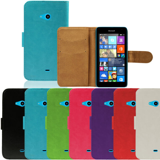 Flip Pu Leather Flip Case Wallet Cover For Microsoft Lumia 535