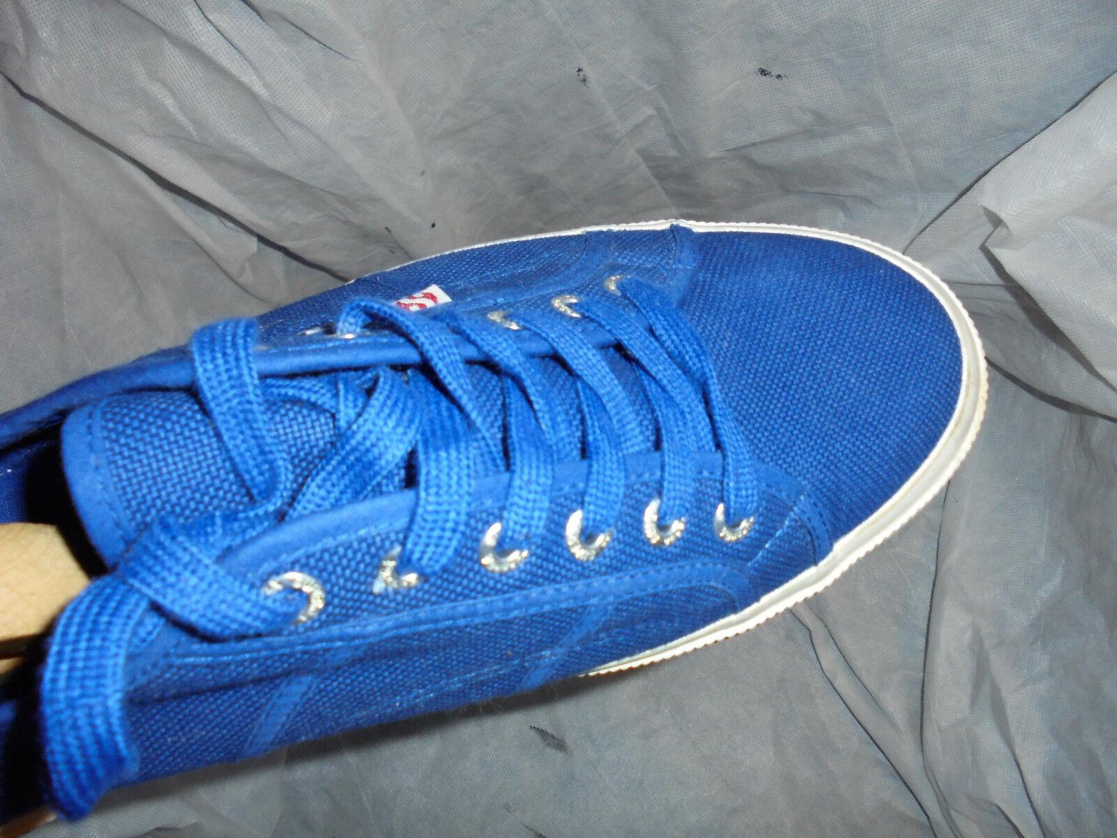 SUPERGRA Para Hombre Con Lona Azul Con Hombre Cordones Zapatillas Size en muy buena condición 63025a
