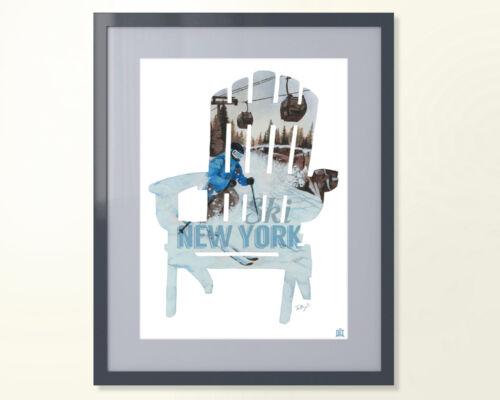 Adirondack Chair I SKI NY Poster