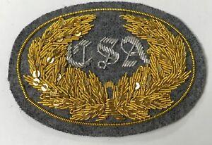 CIVIL-WAR-CONFEDERATE-OFFICER-C-S-A-IN-WREATH-HAT-CAP-KEPI-INSIGNIA-SMALL