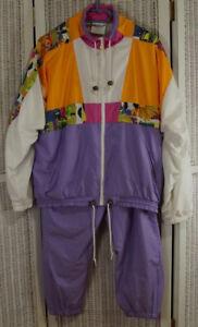 Størrelse School Eu40 Adidas Old Block Color 1990s Vintage Tracksuit Uk14 Kvinne xwq7UI1q