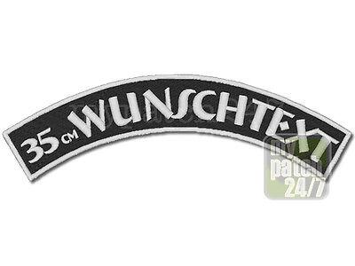 Rückenpatch Aufnäher Wunschtext 35cm Bogen oben Top Rocker MC Biker Kutte Verein