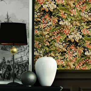 Black Floral Beaux Arts 2 Wallpaper BA220023