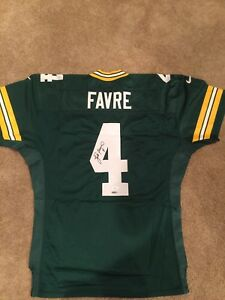 100% authentic 1467f e8dc4 Details about Brett Favre game issue Green Bay Packers Nike jersey  autographed authentic