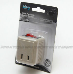 Wall Plug Light Switch : WALL TAP SWITCH Electrical Plug Outlet ON/OFF w/ LED Power Indicator Light EL46 eBay