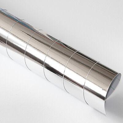 Car Wrapping Folie - Chrom Silber 65cm x 152cm Autofolie mit Luftkanälen