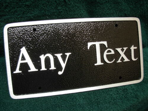 Personalized Any Text Alloy BNCR Front License Plate Vanity My Car Tag