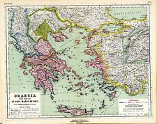 1903 old antique map of ANCIENT WORLD empire GREECE Greek TURKEY history atlas 5